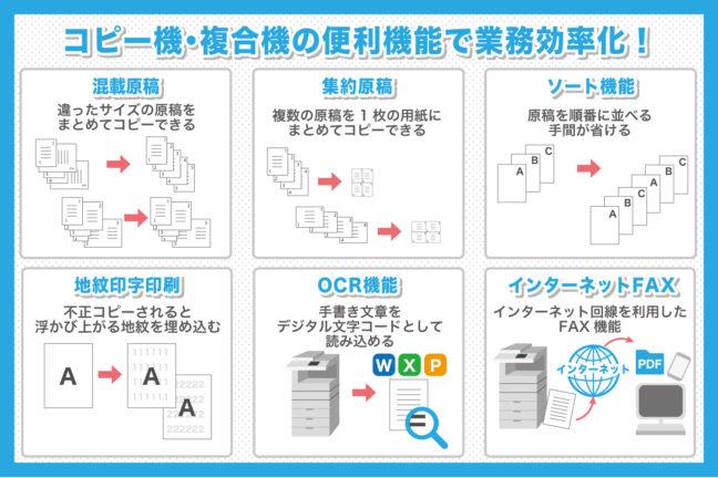 コピー機・複合機の便利機能で業務効率化!
